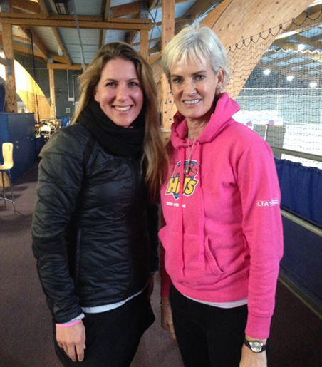 Katy Forsdyke and Judy Murray